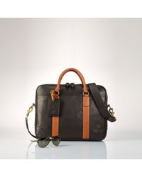 Polo Ralph Lauren | Black Smooth Leather Commuter Bag for Men | Lyst