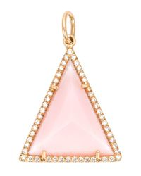 Irene Neuwirth | 18kt Gold And Pink Opal Pendant | Lyst