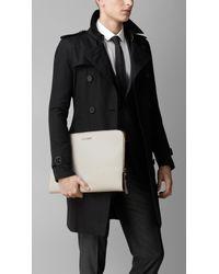 Burberry Black London Leather Document Holder for men
