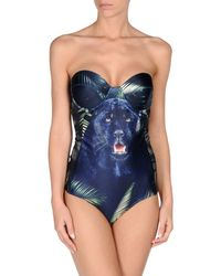 We Are Handsome Black The Pantherprint Swimsuit