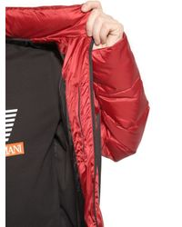 EA7 | Red Nylon Ripstop Down Jacket | Lyst
