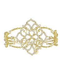 Penny Preville | Metallic 18k Diamond Lacy Floral Station Bracelet | Lyst