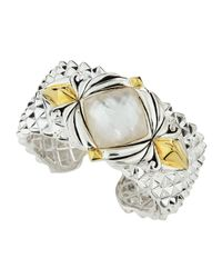Stephen Webster | Metallic Superstud Baroque Mother-of-pearl Crystal Haze Cuff | Lyst