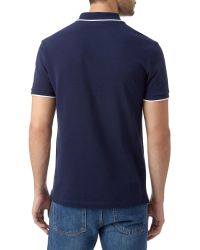 Lacoste | Blue Tipped Collar Polo Shirt for Men | Lyst