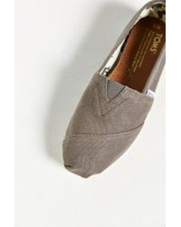 TOMS - Gray Classic Slip-on Shoe for Men - Lyst
