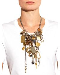 Marc By Marc Jacobs - Metallic Multi-Charm Necklace - Lyst