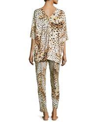 Natori - Multicolor Gabon Two-Piece Tunic Pajama Set - Lyst