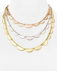 kate spade new york | Multicolor Sweetheart Scallops Triple Strand Necklace, 16"