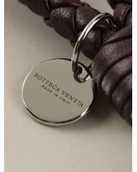 Bottega Veneta - Red Braided Keyring - Lyst