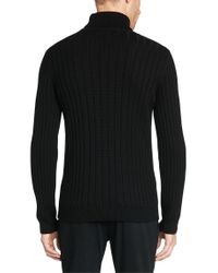 HUGO | Black Knit Sweater In New Wool: 'swuttilunor' for Men | Lyst