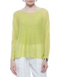 Eileen Fisher - Yellow Linen Box Top - Lyst
