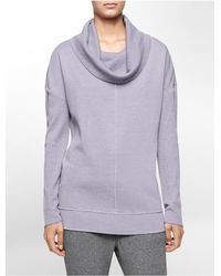 Calvin Klein | Purple White Label Performance Thermal Cowl Neck Sweatshirt | Lyst