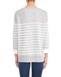 Vince Gray Double-Faced Striped Sweater