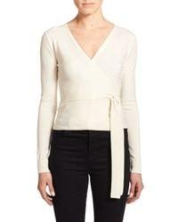 Diane von Furstenberg | Natural Ballerina Wrap Sweater | Lyst