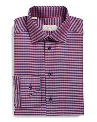 Eton of Sweden - Purple Contemporary Fit Check Dress Shirt for Men - Lyst