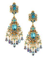 Jose & Maria Barrera | Metallic Filigree Chandelier Clip Earrings | Lyst