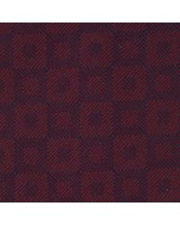 Turnbull & Asser Purple Slim Outline Squares Tie In Burgundy And Navy for men