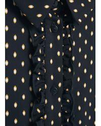 Mango - Blue Polka-dot Print Shirt - Lyst