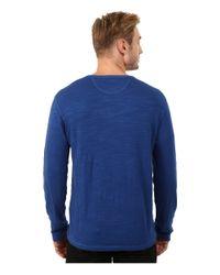 Lucky Brand - Blue Duofold Henley for Men - Lyst