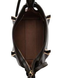 Nina Ricci Leather Petal Handbag Army Green