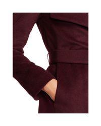 Ralph Lauren | Purple Draped Wool-blend Coat | Lyst