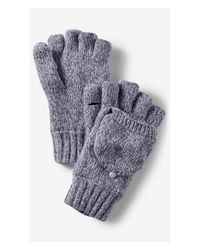 Express | Blue Wool Blend Convertible Marled Mittens for Men | Lyst