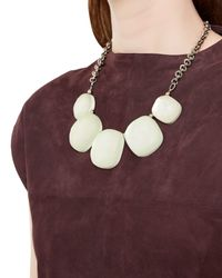 Jaeger | Natural Hammered Pebble Necklace | Lyst