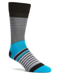 Bugatchi | Blue Stripe Socks for Men | Lyst