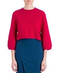 Zac Zac Posen - Pink Ivette Textured-knit Sweater - Lyst