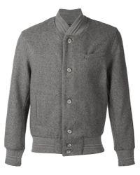 John Elliott - Gray Classic Bomber Jacket for Men - Lyst