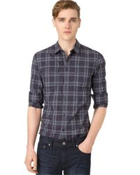 Calvin Klein Jeans | Blue Modern Fit Plaid Sportshirt for Men | Lyst