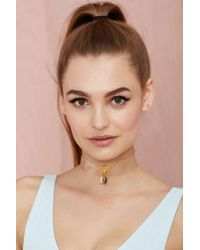Nasty Gal - White Lock It Down Collar Necklace - Lyst