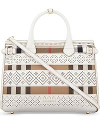 Burberry Natural Banner Medium Leather Tote