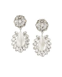BCBGMAXAZRIA | Metallic Floral-stone Earrings | Lyst