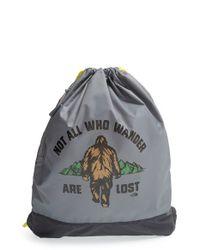 The North Face Gray 'sack Pack' Drawstring Bag for men
