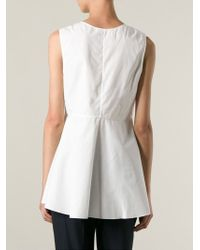Chloé - White Flared Top - Lyst