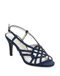 Caparros | Blue Victory Sparkle Sandal Heels | Lyst