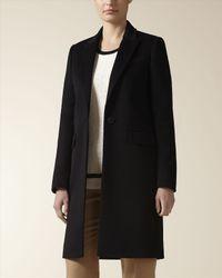Jaeger Black Cashmere City Coat