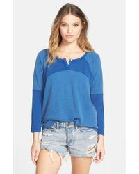 Volcom - Blue 'game Off' Henley - Lyst