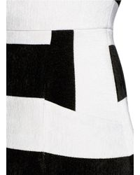 Alice + Olivia Multicolor Tammi Striped A-Line Mini Dress