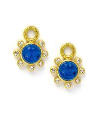Elizabeth Locke | Blue Man-in-the-moon Intaglio Earring Pendants | Lyst