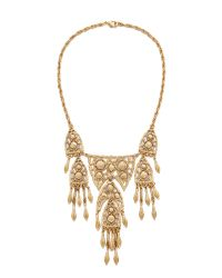 Ben-Amun | Metallic Dreamcatcher Statement Necklace - Gold | Lyst