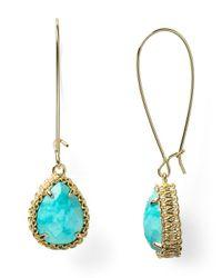 Kendra Scott - Blue Shelly Drop Earrings - Lyst