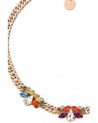 Anton Heunis | Metallic Triple Flower Crystal Necklace | Lyst