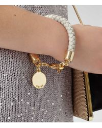 Reiss - White Toucan Leather And Metal Bracelet - Lyst