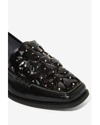 Jeffrey Campbell - Black Cloris Jeweled Loafer - Lyst