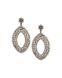 Bavna | Metallic Champagne Diamond Double-drop Earrings | Lyst
