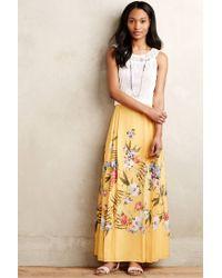 Ranna Gill - Yellow Gardenview Maxi Skirt - Lyst