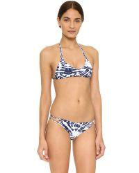 Mikoh Swimwear - Blue Uluwatu Racer Back Bikini Top - Lyst