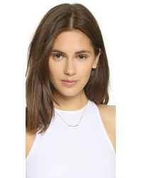 Vita Fede - Pink Mini Mia Crystal Necklace - Rose Gold/clear - Lyst